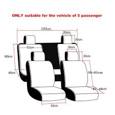 amazon com car seat cover cushions pu leather freesoo front rear
