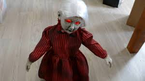 evil rag doll spirit halloween roaming rosie halloween prop youtube