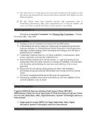 Sample Resume For Bpo by Resume For The Post Of A Coordinator Vice Principal Counsellor