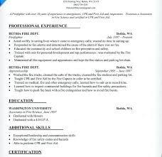 firefighter resume template emt resume sle firefighter resume exles firefighter