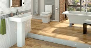 Wood Floor Bathroom Ideas Modern White Bathroom Suites Ideas With Mosaic Tile Walls