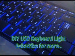 light up wireless keyboard diy usb keyboard led light for your laptop backlit effect youtube