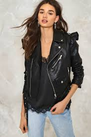moto jacket elena vegan leather moto jacket shop clothes at nasty gal