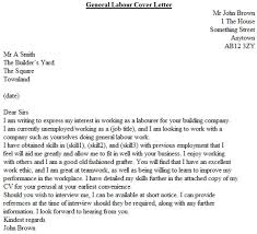general worker cover letter