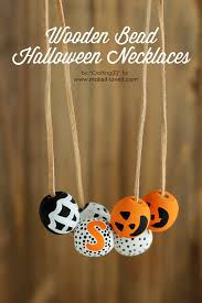 diy wooden bead halloween necklaces make it and love it