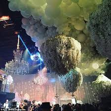 How To Make A Balloon Chandelier Inside Kris Jenner U0027s 2m Party From Kanye West Singing To Kim