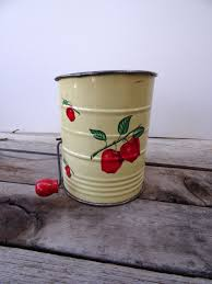 apple kitchen canisters vintage apple flour sifter icing sugar sifter pastry flour