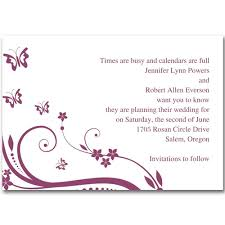 cheap purple and butterfly save the date cards ewstd005 as low as