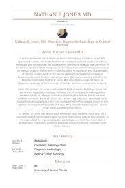 radiologist resume example cristiano ronalda pinterest cv
