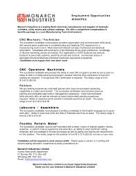 Machinist Sample Resume by Cnc Machinist Resume Samples Free Resume Example And Writing