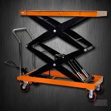hydraulic double scissor lift table cart 2200 lb tf100sd