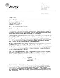 Accident Report Sample Letter Entergy Rejects Reports Sr 90 Found In Connecticut River Is From