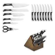 sharpening for kitchen knives calphalon precision self sharpening 15 cutlery set with