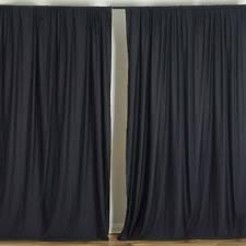 Black Backdrop Curtains Black 10 X 10 Ft Polyester Backdrop Curtains Drapes Panels Home