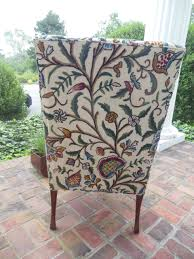 Hickory Chair Wing Chair Pair Of Hickory Chair Company Wing Chairs With Crewel Work