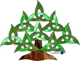 celtic tree stained glass pattern anypattern com