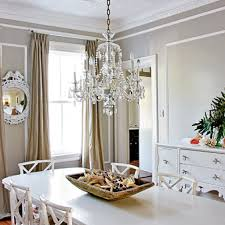 brightstal chandelier in classic dining area with long table and