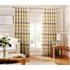 Green Striped Curtains Whiteheads Judy Green Striped Readymade Eyelet Curtain Available
