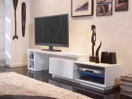 meuble tv cuisine cuisine moderne blanc laque 10 meuble tv bas extensible en bois