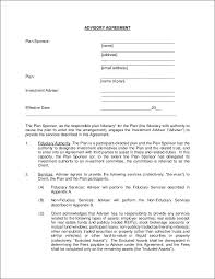 investment contract sample pdf investment advisory agreement