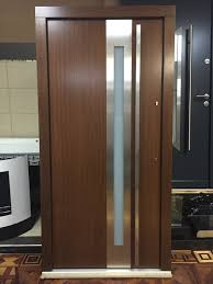 frosted glass front doors model 027 modern prehung wood exterior door w frosted glass