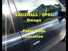 vauxhall opel omega vin plate u0026 paint code location youtube