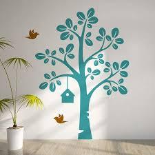stickers arbre chambre enfant cuisine turquoise et gris 2 stickers arbre dans la chambre