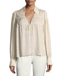 print blouse joseph crosby tie front print blouse neiman