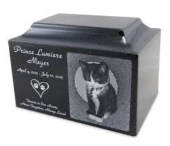 cremation urns for pets black granite small pet cremation urn with engraved photo