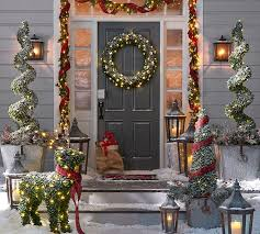 wreaths garlands trees pottery barn