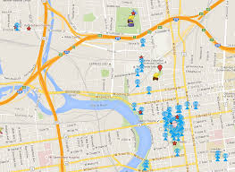 map of columbus arena district go pub crawl downtown columbus apartments