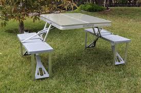 aluminum portable picnic table picnic time aluminum portable folding picnic table 801 00 133