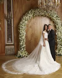 display wedding dress amal clooney s wedding dress on display popsugar fashion photo 5