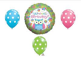 amazon com whooo u0027s birthday owl party balloons decorations
