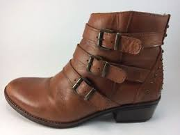 womens leather ankle boots size 9 eric michael s sparta brown leather ankle boots size 9