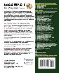 autocad mep 2016 for designers 3rd edition prof sham tickoo
