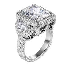diamond rings square images Square vintage engagement rings wedding promise diamond jpg