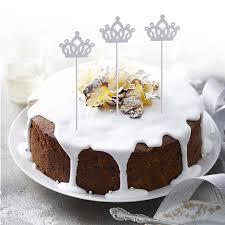 dessert mariage 10 pcs happy birthday cake topper crown dessert cake decorations