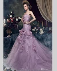 Purple Wedding Dress 2016 Light Purple Mermaid Wedding Dresses Tulle Bridal Bride