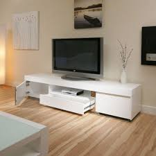Computer Desk Tv Stand by Large Tv Television Cabinet Entertainment Unit Center White Gloss
