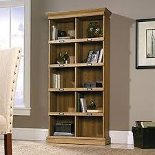 tall narrow oak bookcase ameriwood bookcases home office furniture the home depot
