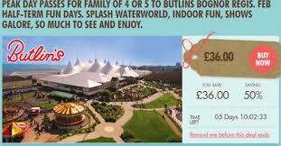 feb half term 2016 half price family day pass to butlins bognor regis