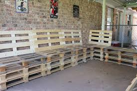 Patio Furniture Using Pallets - how to construct an outdoor wooden pallet couch pallet idea
