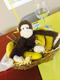 Baby Monkey Centerpieces by Centerpieces I Made For Sil Safari Baby Shower Babies
