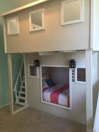 Build Your Own Loft Bed With Slide by Playhouse Loft Bed With Stairs And Slide Emmas Big Room