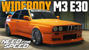 Bmw M3 1990 - need for speed 2015 widebody bmw m3 e30 car customization youtube