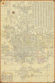 Old Phoenix Map Vintage Phoenix Arizona Map Print Antique - Home decor phoenix