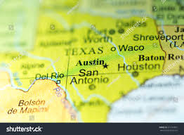 Texas On Map Of Usa by Closeup Of Austin Texas On A Political Map Of Usa Stock Photo
