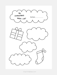 christmas wish list maker christmas wish list templates mr printables