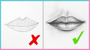 dos u0026 don u0027ts how to draw realistic lips u0026 the mouth step by step